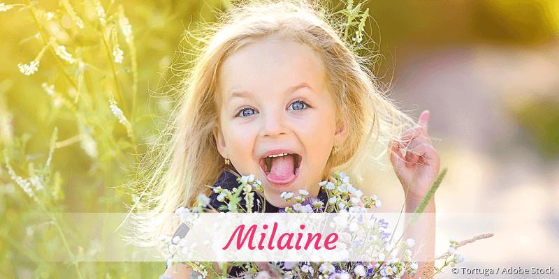Name Milaine als Bild