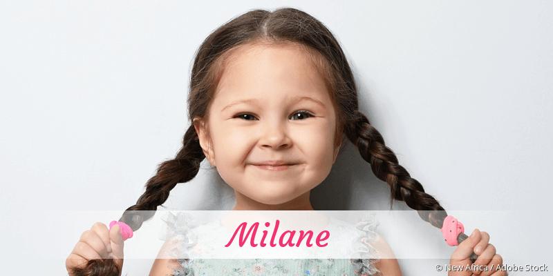 Name Milane als Bild