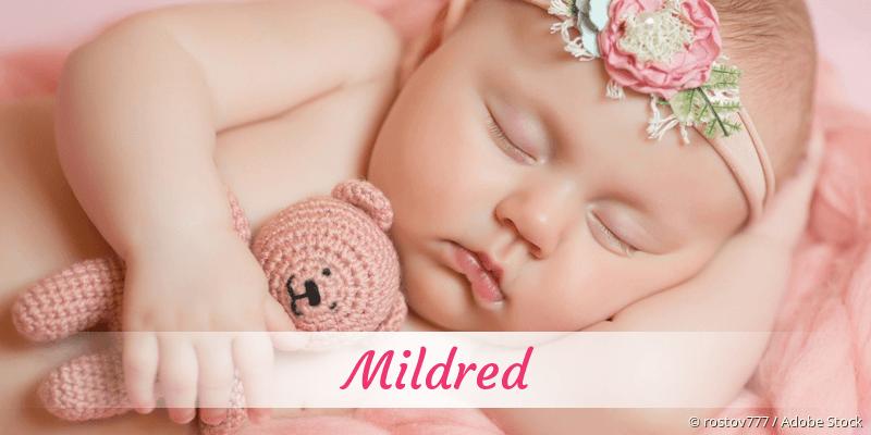 Name Mildred als Bild