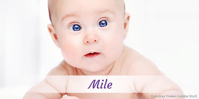 Name Mile als Bild