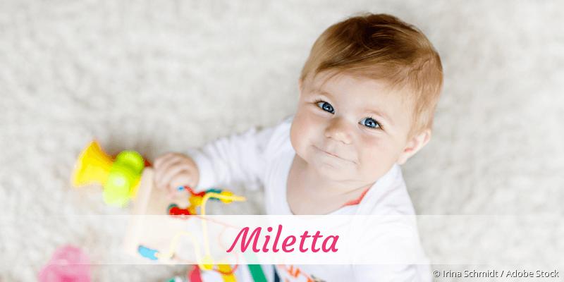 Name Miletta als Bild
