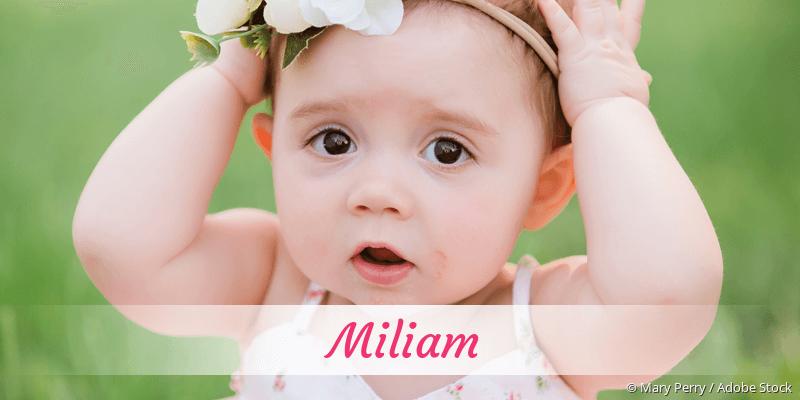 Name Miliam als Bild