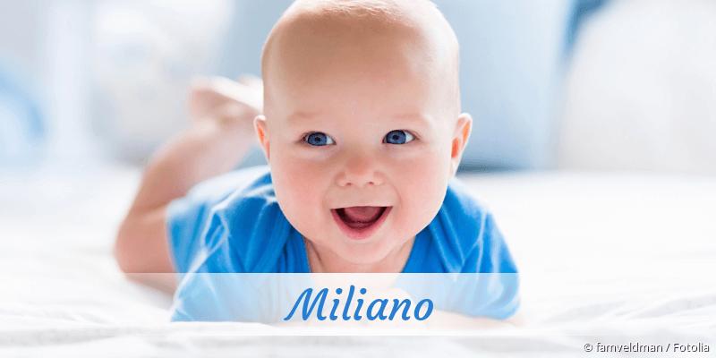Name Miliano als Bild