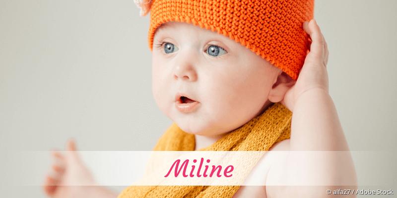 Name Miline als Bild