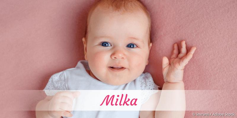 Name Milka als Bild