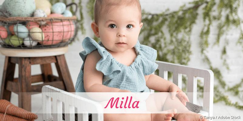 Name Milla als Bild