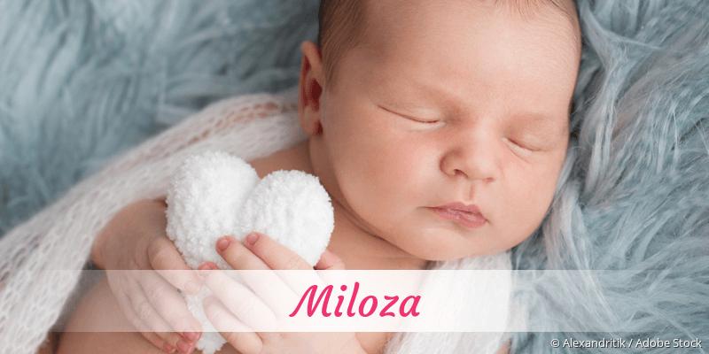 Name Miloza als Bild