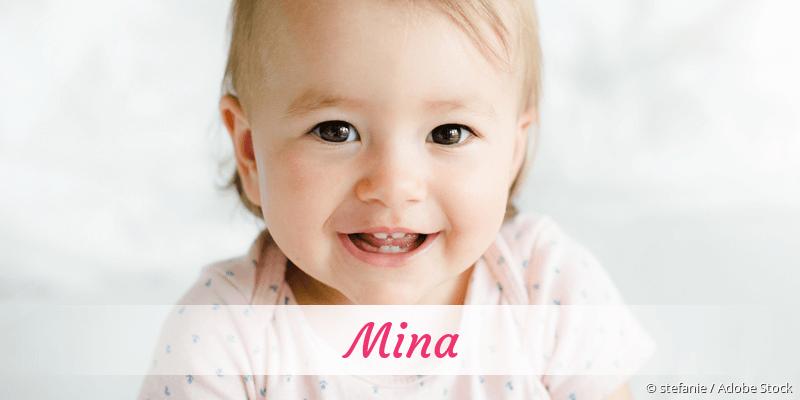 Name Mina als Bild