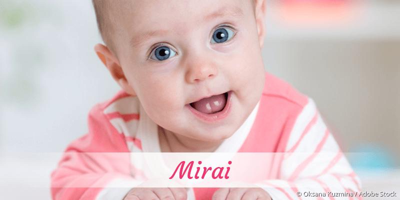 Name Mirai als Bild