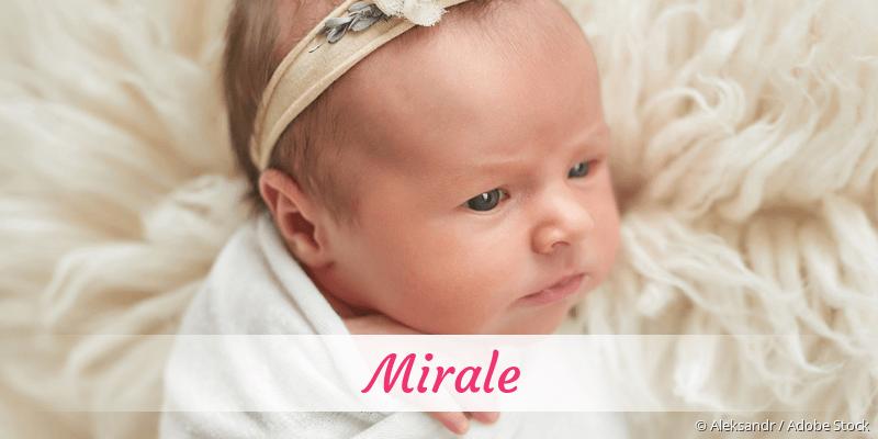Name Mirale als Bild