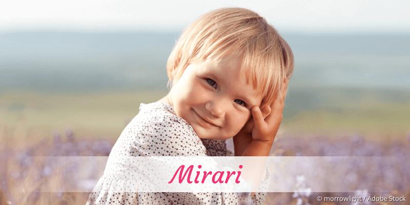 Name Mirari als Bild