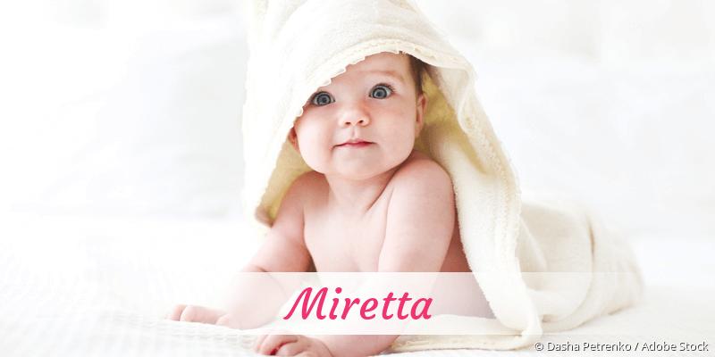 Name Miretta als Bild