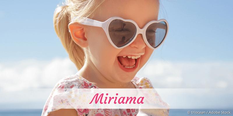 Name Miriama als Bild