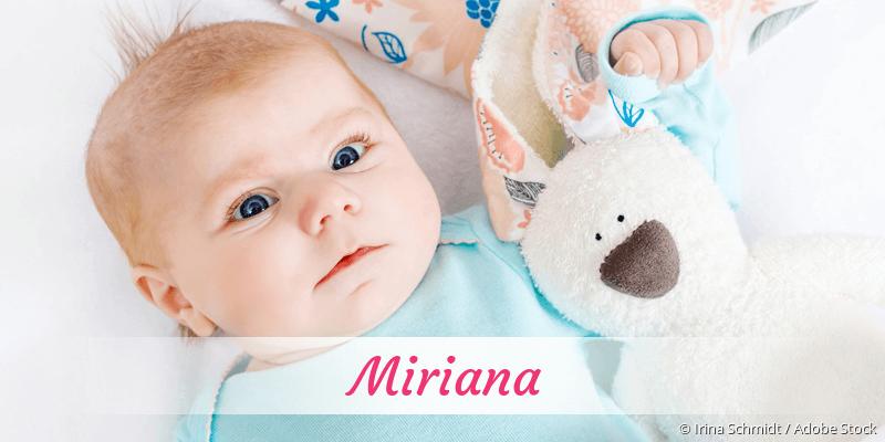 Name Miriana als Bild