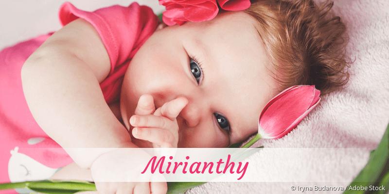 Name Mirianthy als Bild