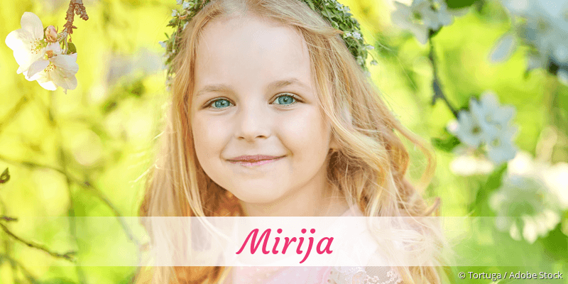 Name Mirija als Bild