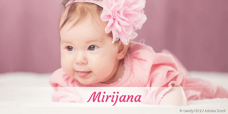 Name Mirijana als Bild