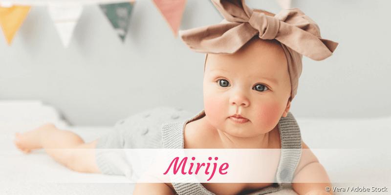Name Mirije als Bild