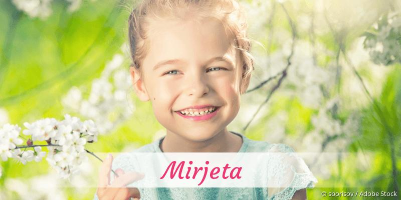 Name Mirjeta als Bild
