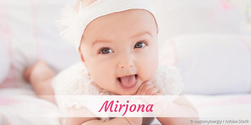 Name Mirjona als Bild