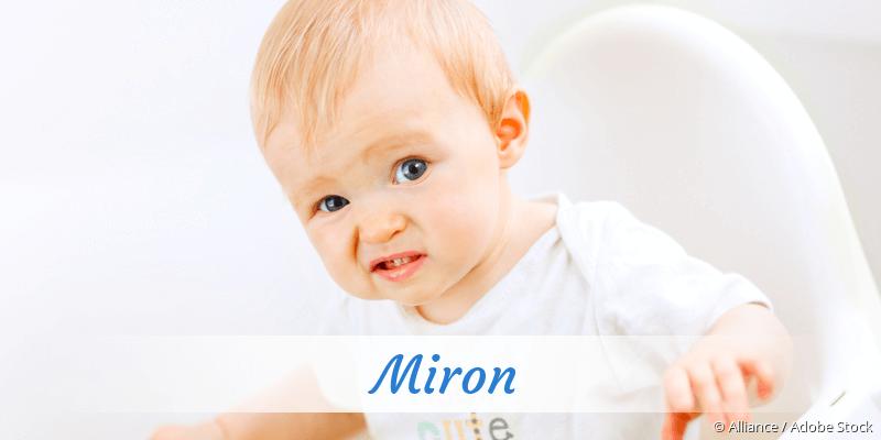Name Miron als Bild