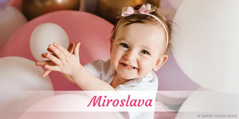Name Miroslava als Bild