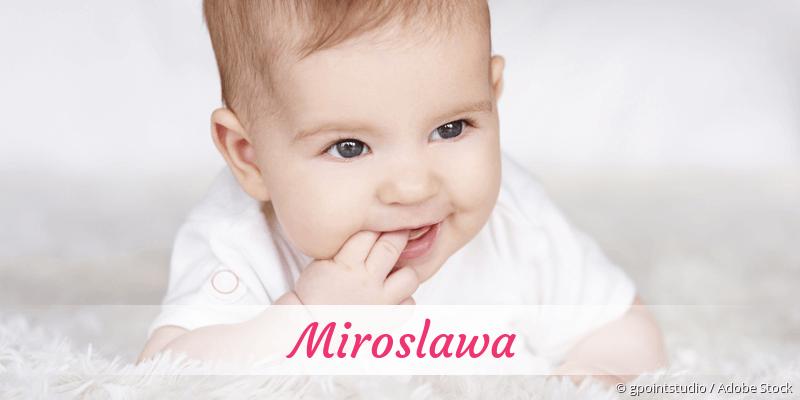 Name Miroslawa als Bild