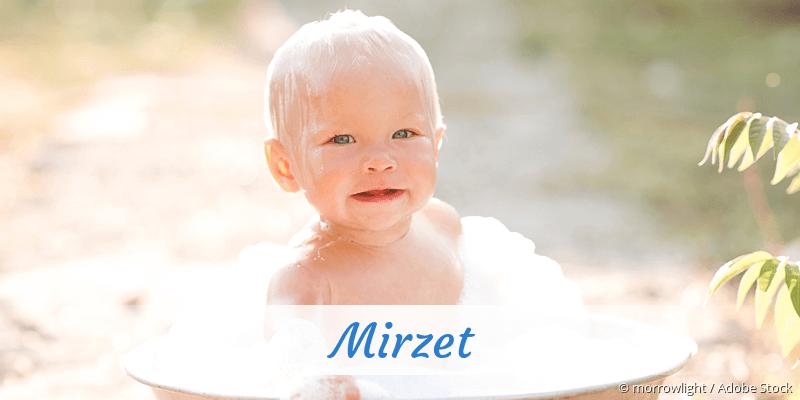 Name Mirzet als Bild