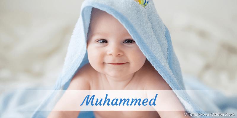 Name Muhammed als Bild