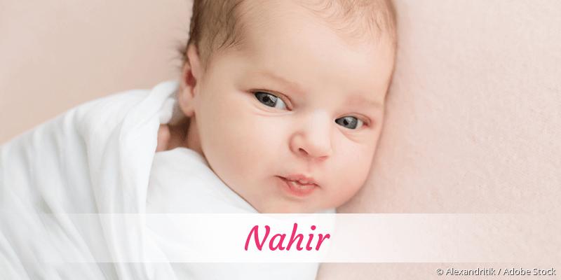 Name Nahir als Bild