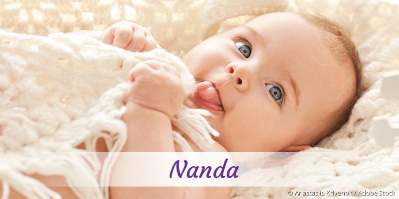 Name Nanda als Bild