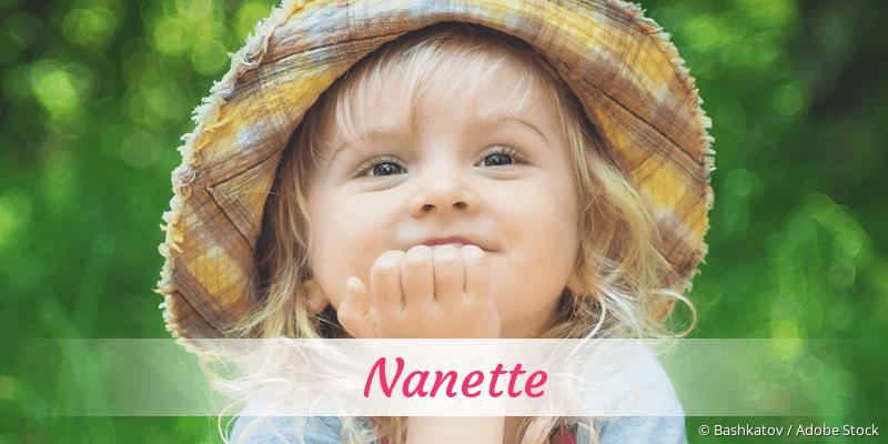 Name Nanette als Bild