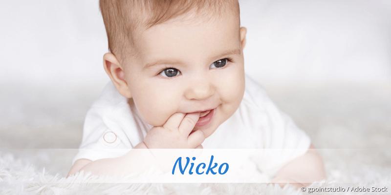 Name Nicko als Bild