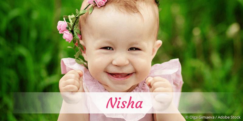 Name Nisha als Bild