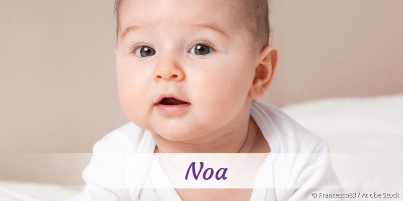 Name Noa als Bild