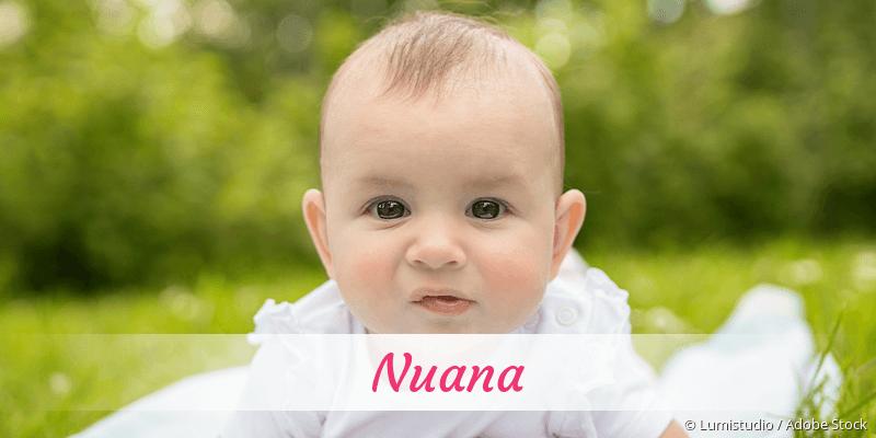 Name Nuana als Bild