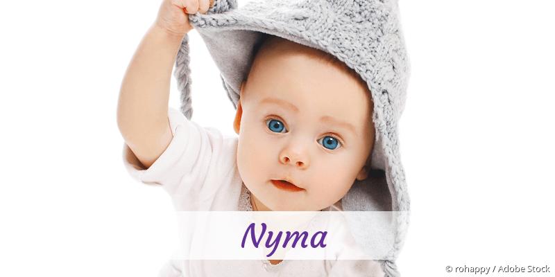 Name Nyma als Bild