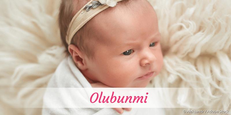 Name Olubunmi als Bild