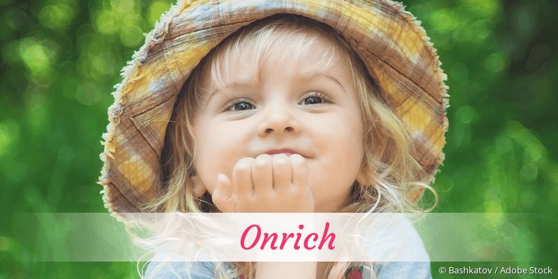 Name Onrich als Bild