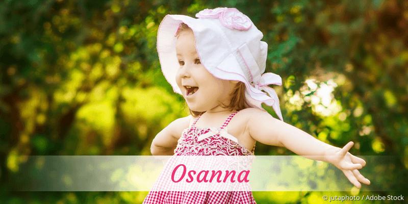 Name Osanna als Bild