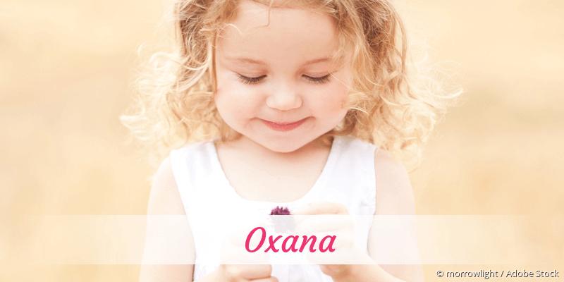 Name Oxana als Bild