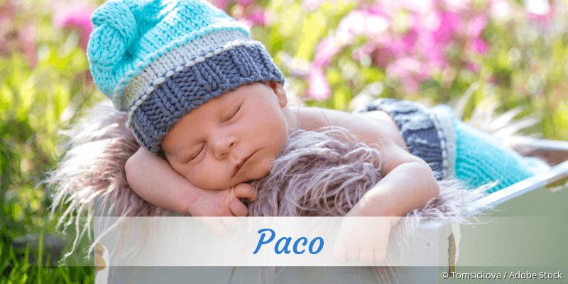 Name Paco als Bild