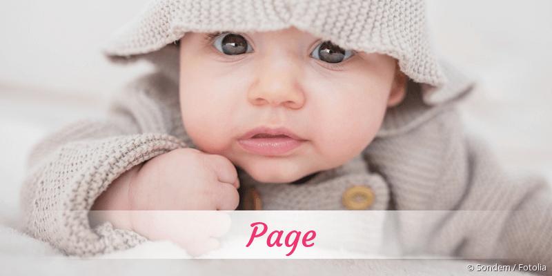Name Page als Bild