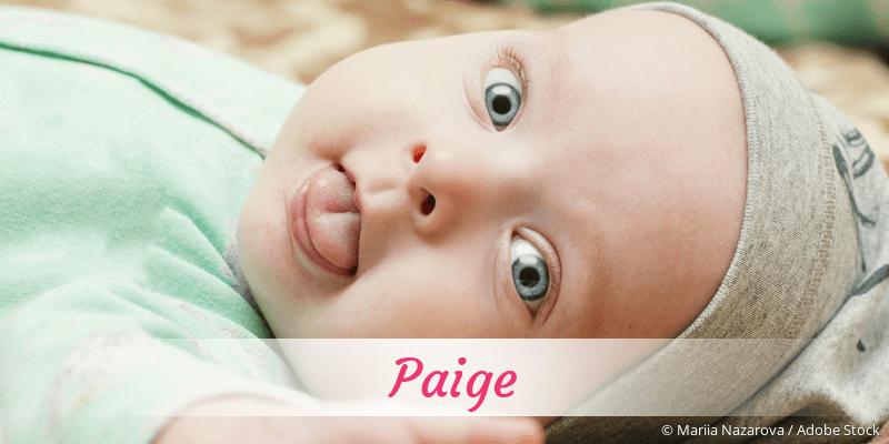 Name Paige als Bild