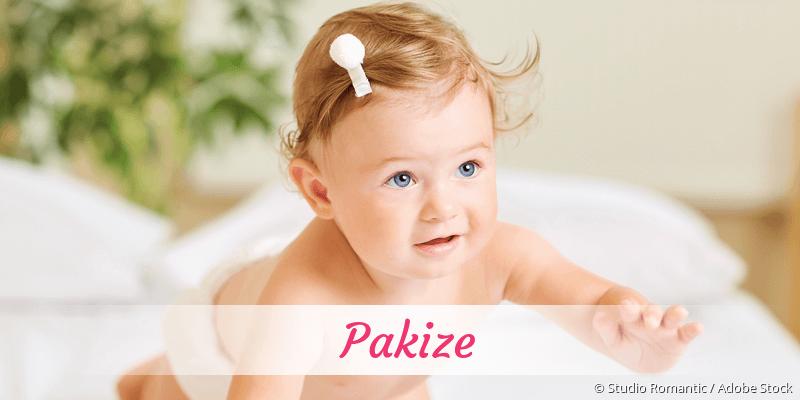 Name Pakize als Bild
