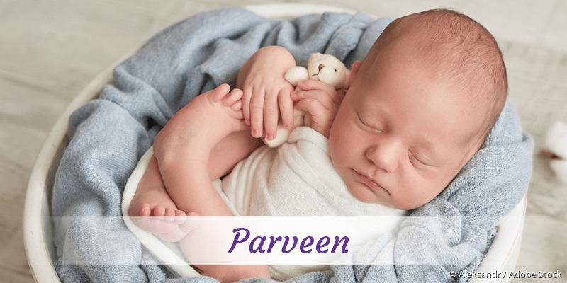 Name Parveen als Bild