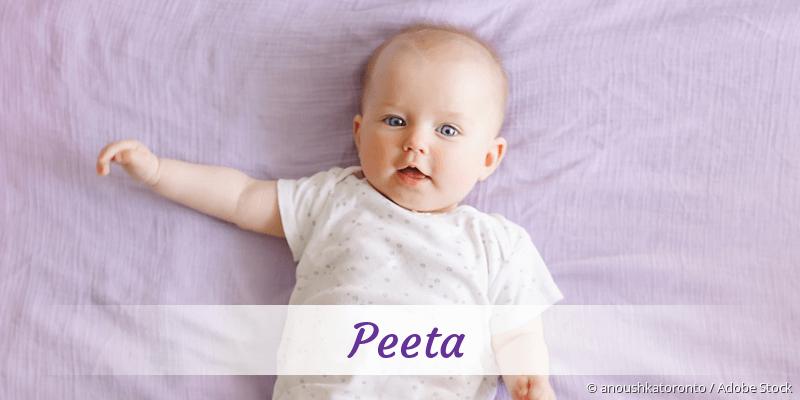 Name Peeta als Bild