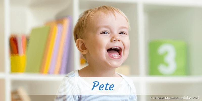 Name Pete als Bild