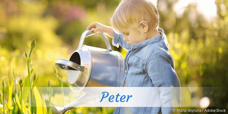 Name Peter als Bild