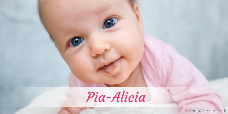 Name Pia-Alicia als Bild